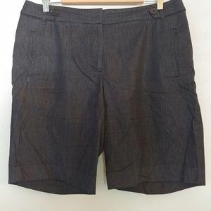 Loft Dark Navy Dressy Bermuda Shorts